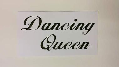 Dancing Queen -  Photo Booth kyltti 1kpl