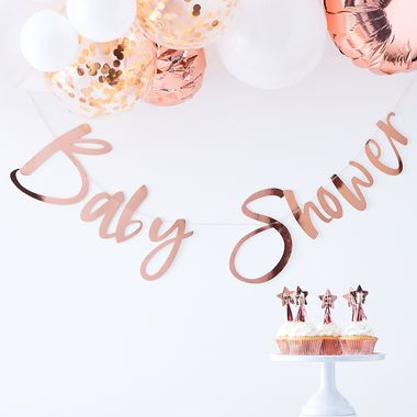 Baby Shower banneri Rose Gold  1,5m