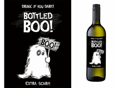 Bottled Boo etiketit pulloon 10kpl