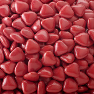 Mini Heart Dragees Burgundy 1kg