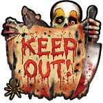 Keep Out juliste n 26,5cm