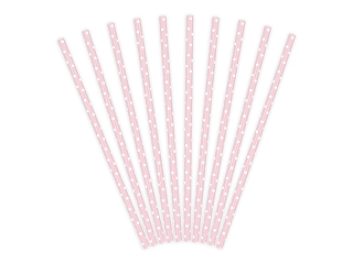 Polka Dot Paperipillit 10kpl Light Pink