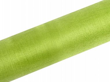 Kapea organza snow kaitaliinakangas 0,16m x 9m light green