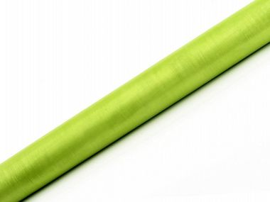 Plain Organza Kaitaliinakangas light green 0,36m x 9m