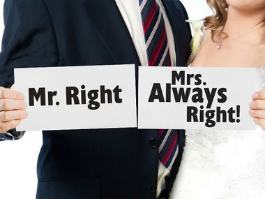 Mr. Right & Mrs. Always Right kyltit, 2kpl