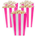 Stripes popcorn/herkkuastiat bright pink 5kpl