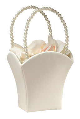 Plain Satin Basket Ivory