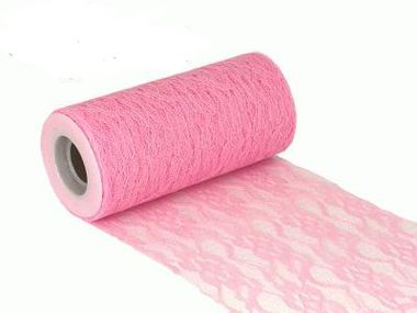 Lace Netting n 15cm x 10m Light Pink